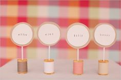 Do It Yourself Thread Place Cards