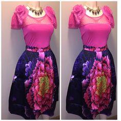 2pc set skirt n blouse set Spring is around the corner..  Skirt available in Med Sm XSm Tops Blouses
