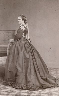 EMPRESS MARIA FEODOROVNA MOTHER -  Queen Louise of Denmark, neé Princess of Hesse-Kassel. Late 1860s.