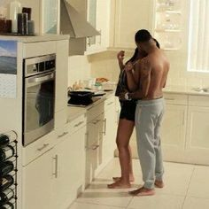 Black Love ... In the kitchen, watch the stove! Loving this...