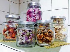 Flower Tea, Kitchen Pantry, Package Design, Seoul, Mason Jars, Medicinal Herbs, Butler Pantry, Packaging Design, Mason Jar