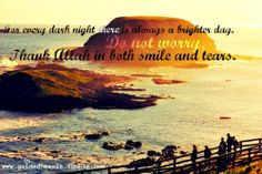 Thank Allah in both smiles and tears
