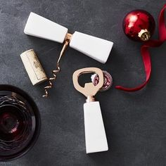 Marble with Copper Wine Opener