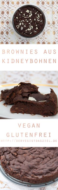 Brownies, vegan, vegane Brownies, Kidneybohnen