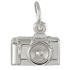 Camera Charm $30 http://www.charmnjewelry.com/search/sterling_silver/Apparel.htm #SilverCharm  #CharmnJewelry