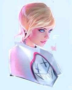 Pink Ice арт, Портрет, rossdraws