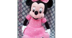 MINNIE-MOUSE-HORGOLT-THINA.pdf Toy Room Organization, Minnie Mouse, Toys, Disney Characters, Crafts, Crochet Mickey Mouse, Free Pattern, Crochet Throw Pattern, Tejidos