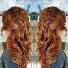 Copper hair, red hair, long hair, fall hair color, beach waves, balayage #vistabellesalon #WomenHairColorHighlights