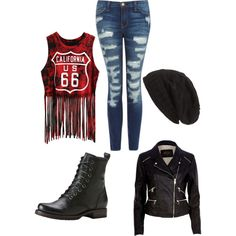 Outfit #9 by disneyboundqueen on Polyvore featuring polyvore, fashion, style, River Island, Current/Elliott, Frye and David & Young