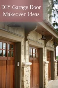 DIY Garage Door Makeover Ideas *Lights flanking the front door. Garage Door Colors, Diy Garage Door, Garage Door Makeover, Garage House, Garage Ideas, Dream Garage, House Front, Do It Yourself Furniture, Do It Yourself Home