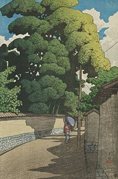 "Japanese Art Print ""Summer Afternoon in Kanazawa (Kanazawa Shimo Honda-Cho)"" from the Series ""Souvenirs of Travels (2nd Series)"" by Kawase Hasui. Shin Hanga and Art Reproductions http://www.amazon.com/dp/B00ZMXLV6W/ref=cm_sw_r_pi_dp_m-Rvwb1753EFY"