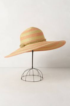 """Sun Swirl Hat - anthropologie.com My favorite style of hat. Not necessarily the color of choice for me. 22.5"""" Crown -could be a bit lower for me. 5.5"""" brim."""