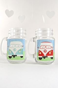 Toasted Glass - Camper Van Drinking Jar