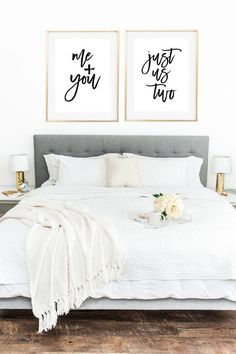 Love Print Bedroom Prints Me And You Decor Wall Art Quote