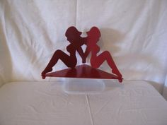 Red Hot Bikini Girl bougie titulaire métal Art par cabinhollow