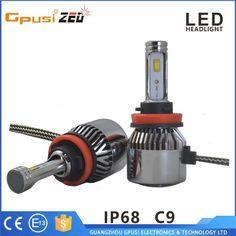 CE Rohs Auto headlamp H8 H11 H13 H15 heatsink led headlight for f150 ford