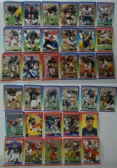 1990 Score Chicago Bears Team Set of 34 Football Cards Mike Singletary, Football Cards, Baseball Cards, Chicago Bears, Scores, History, Ebay, Soccer Cards, Historia