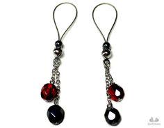 Nipple Jewelry Noose DISCO BALL Czech Glass Red by BoDivas #nipples #fashionbloggers #jewelry