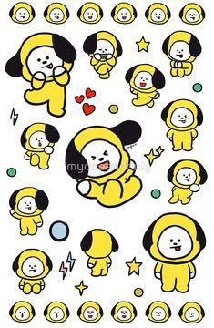 Chimmy 2 fanart made by me Bts Chibi, Bts Bangtan Boy, Bts Jimin, We Bare Bears, Bts Drawings, Line Friends, Billboard Music Awards, Bts Lockscreen, Bts Fans