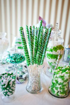Candy Bar Virginia Wedding - I like the different heights.