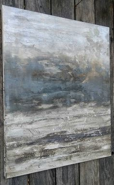 Minimalist Abstract Gray Painting 24 x 30 Neutral Canvas Wall