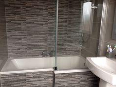 L Shaped Bath, Screen & Tiles