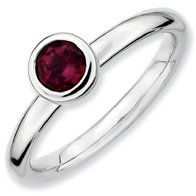 0.64ct Silver Stackable 5mm Round Rhod. Garnet Band. Sizes 5-10 Available Jewelry Pot. $29.99. 100% Satisfaction Guarantee. Questions? Call 866-923-4446. Fabulous Promotions and Discounts!. All Genuine Diamonds, Gemstones, Materials, and Precious Metals. 30 Day Money Back Guarantee. Your item will be shipped the same or next weekday!. Save 63%!