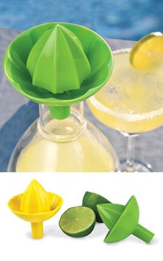 Make fresh lemonade or margaritas poolside with the Sombrero Juicer that lets you squeeze juice right into a bottle! Solutions.com #Summer #Drinks