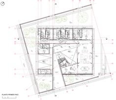 Plans R House / Panorama Arquitectos The Plan, How To Plan, Architecture Drawings, Architecture Plan, Museum Plan, Kindergarten Design, Casa Patio, Site Plans, House Drawing