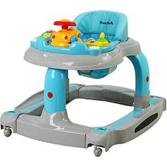 Dream On Me - 2-in-1 Baby Tunes Musical Activity Walker and Rocker, Gray