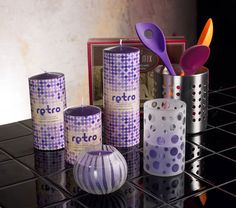retro dots scented candle & jar