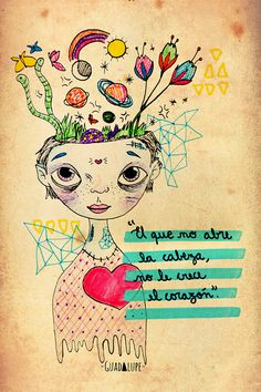 Illustration by Guadalupe Ferrante Favorite Quotes, Best Quotes, Life Quotes, Nana Quotes, Quotes En Espanol, Pretty Quotes, Magic Words, More Than Words, Spanish Quotes