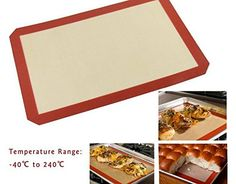 Baking Mat Silicone Baking Mats Non Stick Professional Grade Silpat Baking Liner Mat 16 x 11 inch *** Learn more by visiting the image link.