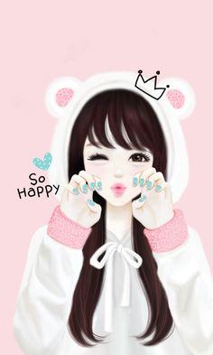 Enakei Korean Anime Anime Korean Illustration for The Most Amazing Korean Cartoon Wallpaper Cute Girl Wallpaper, Cute Wallpaper Backgrounds, Phone Wallpapers, Couple Wallpaper, Iphone Backgrounds, 3d Wallpaper, Black Wallpaper, Cute Cartoon Girl, Cartoon Art