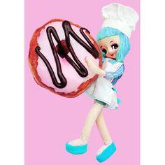donut girl print 5 x 7 Doughn't It Look Good by boopsiedaisy
