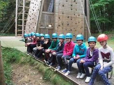 Year six camp climbing with Eleanor and Nadia!