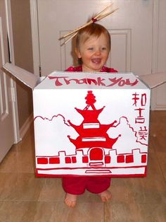 Chinese Take Out Box Halloween Costume!  ||  The Best Of Homemade Halloween Costumes 24 Pics  #HAlloween #costumes