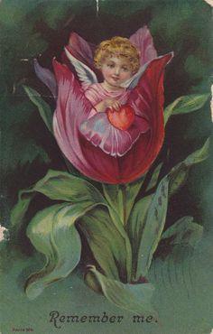 Wings of Whimsy: Cherub Flowers Collage Sheet - free for personal use #vintage #valentine #ephemera #printable #freebie