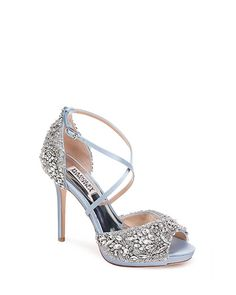 Find the perfect pair of wedding shoes at Badgley Mischka, with designer wedding heels, flats, sandals and more, all dripping with gorgeous details. Designer Wedding Shoes, Designer Heels, Badgley Mischka Shoes Wedding, Embellished Heels, Evening Shoes, Bridal Shoes, Pumps, Heeled Sandals, Shopping
