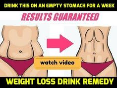 Drink This on an Empty Stomach for a Week ! The Results Will Amaze You | Weight Loss Drink Remedy