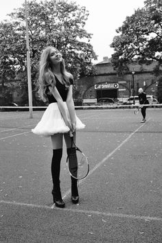 love tennis!!! Can't wait to start playing when it gets warm...I wish I looked this cute when I play