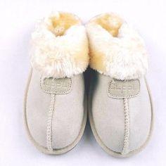 Clpp'li Womens Size 7 M Slippers Tan Faux Fur Mules Fluffy Suede Comfy Soft