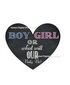 Gender Reveal Box Heart Sign - Gender Reveal Decal - Gender Reveal Party Idea - Etsy shop https://www.etsy.com/listing/385559500/gender-reveal-box-heart-sign-gender