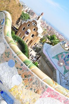 Antoni Gaudi's crazy colorful park is situated on a hill above the Gracia district, and provides a relaxing escape from the busy Barcelona below. Park Guell Barcelona is the perfect setting to enjoy a cold drink, play a game of Frisbee, watch local musicias or simply take in the fabulous views of the city and harbor.