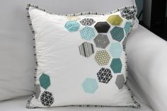 hexagon quilted pillow - scattered for a more modern look
