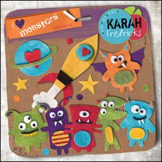 I Heart Monsters - feltie elements by Karah Fredricks ... Digital Scrapbooking