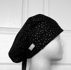 Glam Dot Tie Back Scrub Hat