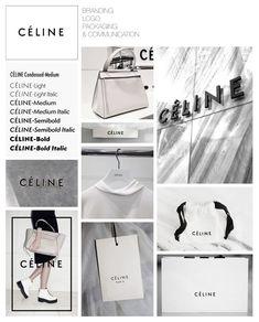 Celine - Fashion Designer Branding Packaging Logo Communication Identity - Collaged by Yağmur Kutlu Fashion Packaging, Brand Packaging, Fashion Labels, Packaging Design, Clothing Packaging, Brand Identity Design, Corporate Design, Branding Design, Branding Ideas