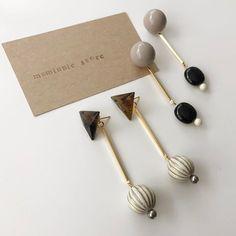 Diy Jewelry Tools, Clay Jewelry, Stone Jewelry, Jewelry Crafts, Beaded Jewelry, Jewelry Making, Handmade Accessories, Jewelry Accessories, Earrings Handmade