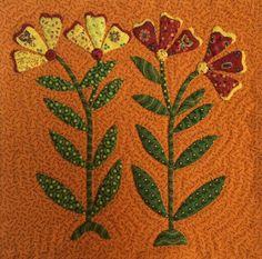 The Constant Quilter: Shenandoah Valley Botanical Album Block
